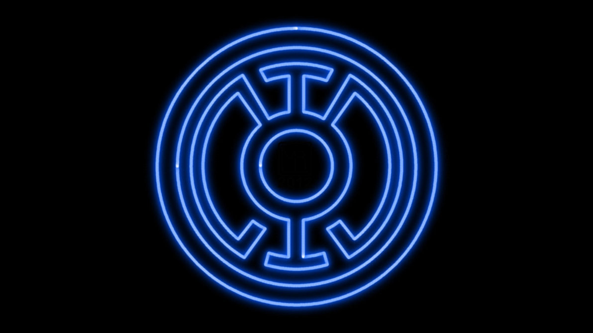 Blue Lantern Corps Neon Symbol WP by MorganRLewis 1192x670