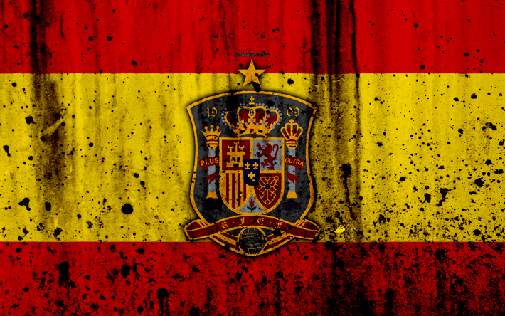 Download wallpapers Spain national football team 4k logo 710x444