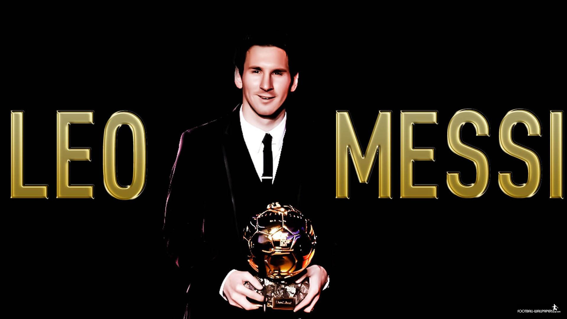 Messi With The Ballon D Or Wallpapers Players Teams 1920x1080