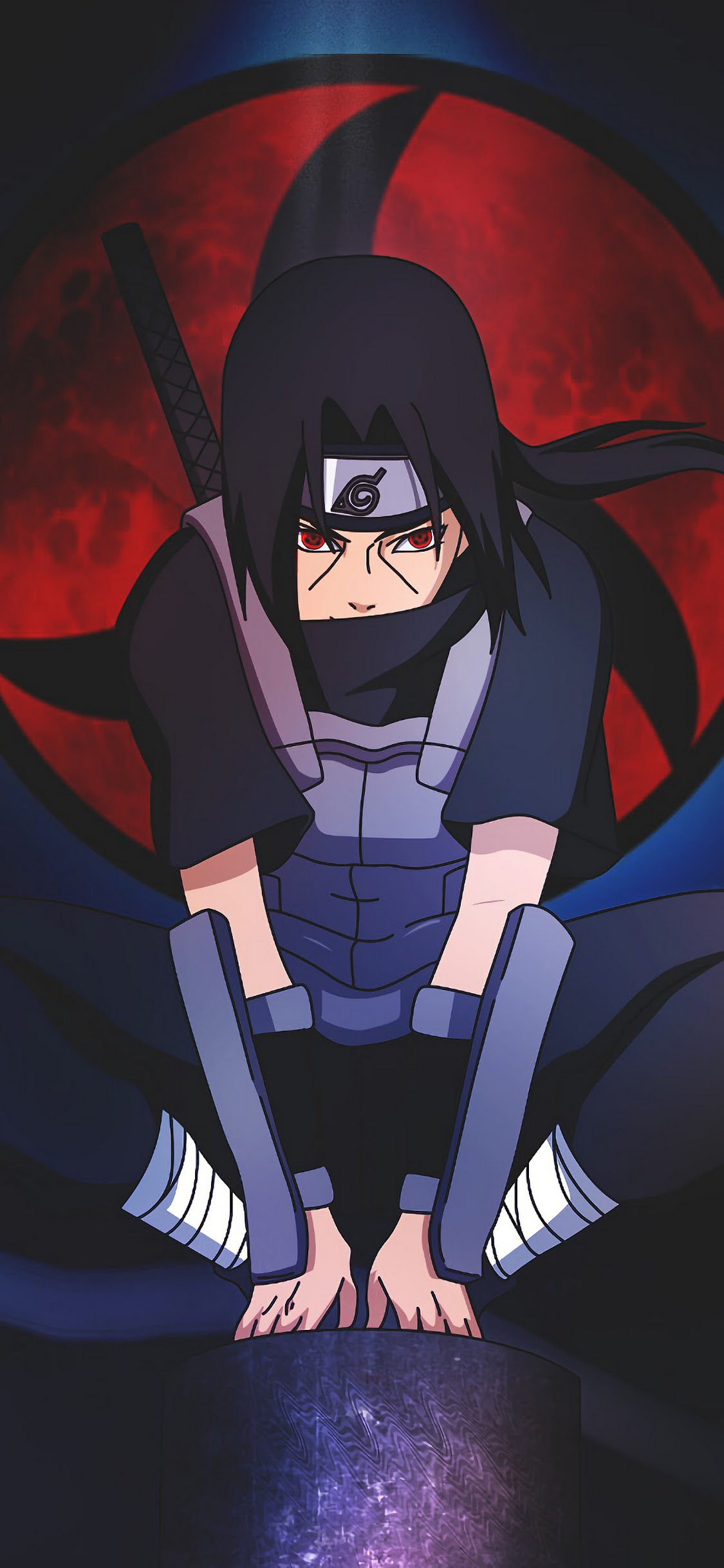 Itachi Sharingan Anbu 4K Wallpaper 6 1125x2436