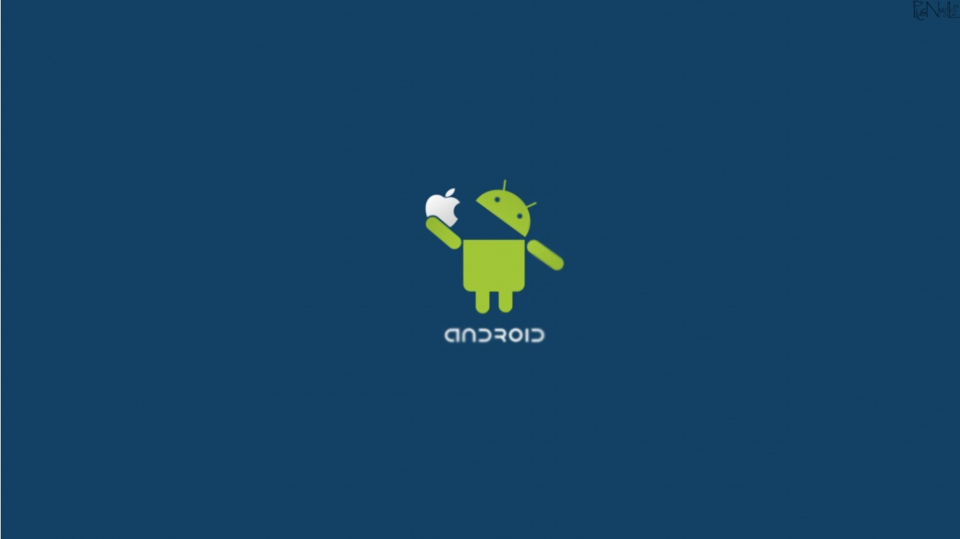 Android vs Apple 2012 Wallpapers   1366x768   75750 1366x768