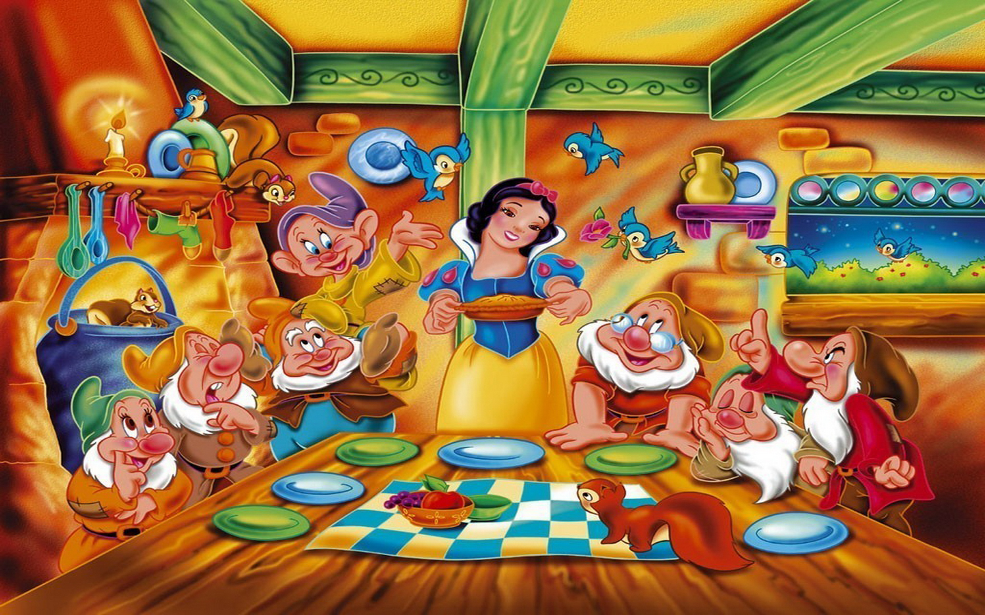 snow white and the seven dwarfs - HD1920×1200