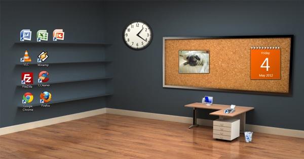 The office desktop wallpaper wallpapersafari for Bureau 3d windows 10
