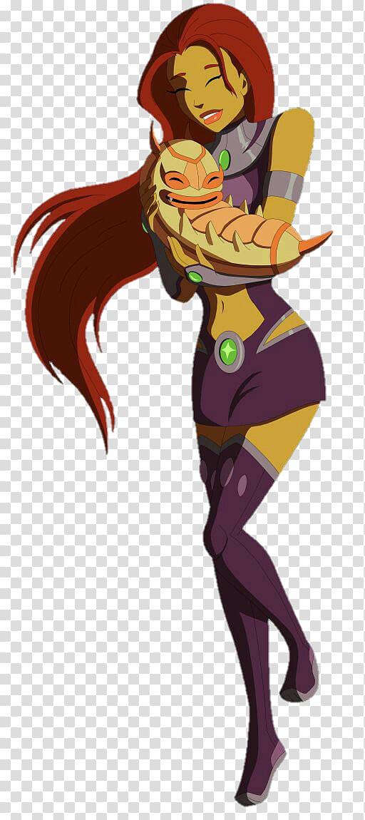 Starfire Teen Titans Go Robin Blackfire Starfire transparent 512x1150