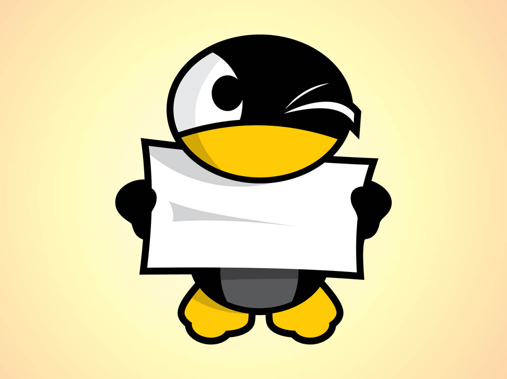 Cartoon Penguin Character Vector Art Graphics freevectorcom 1024x765