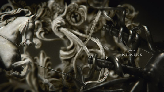 but dark sculptural vignettes in the opening titles for Black Sails 535x301