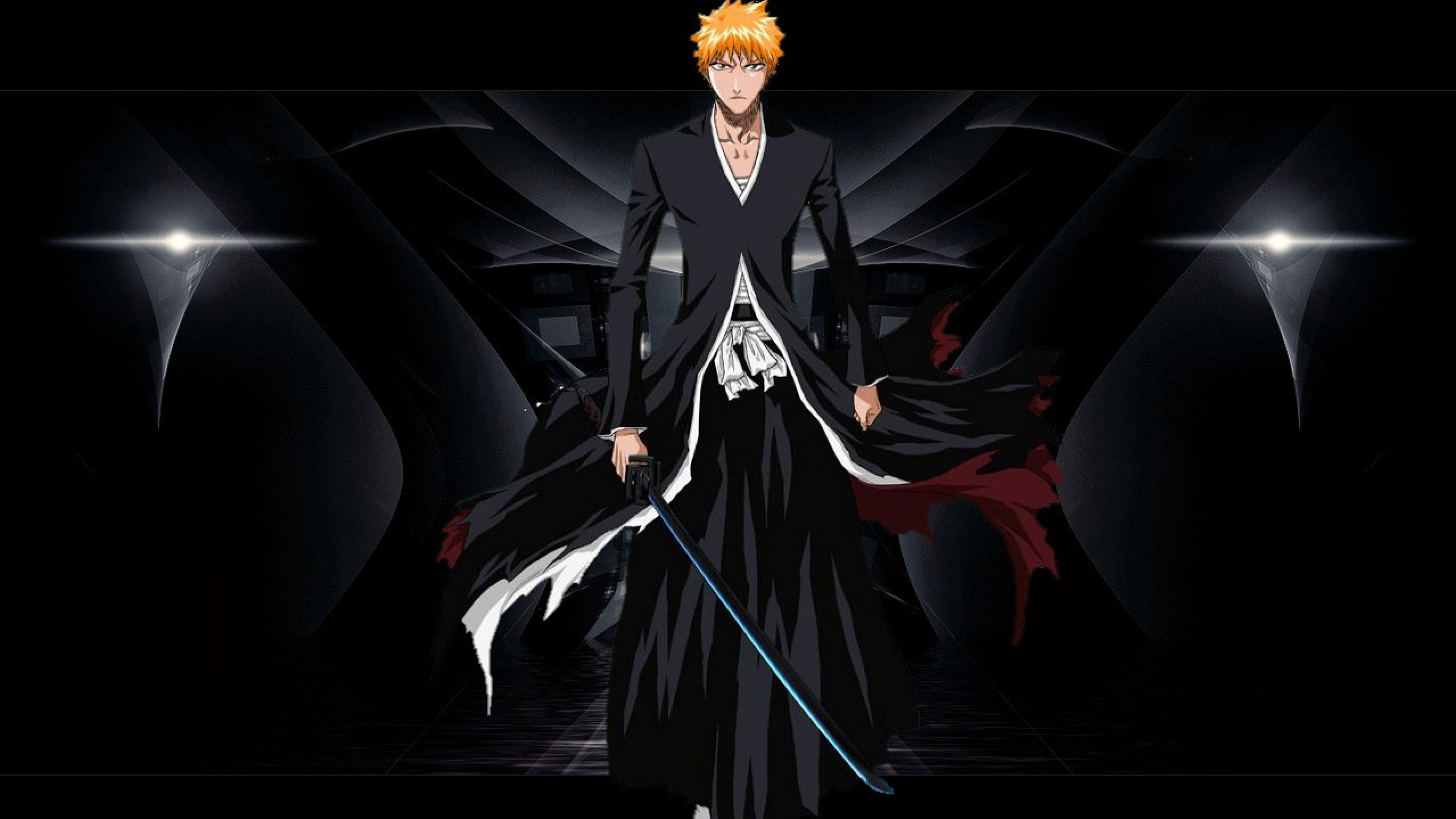 Download Wallpaper 2560x1440 Anime Bleach Character Ichigo Bankai 2560x1440
