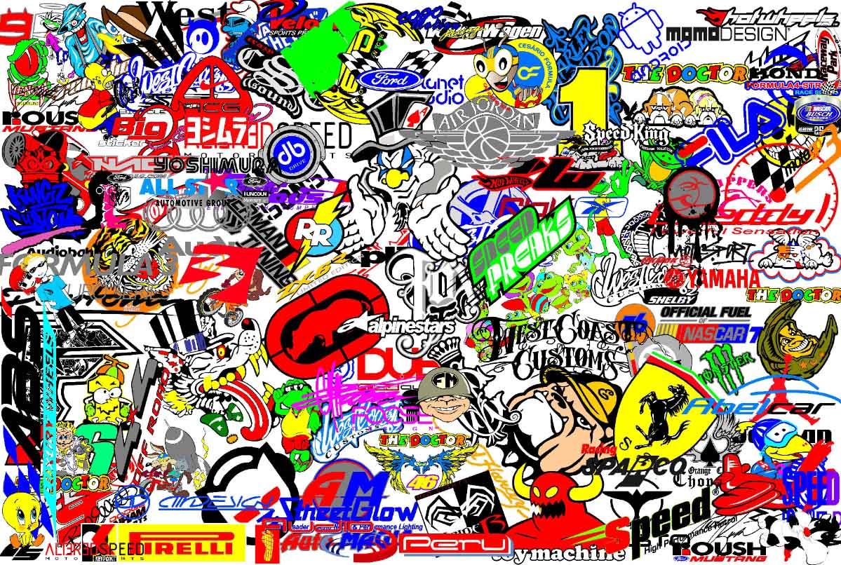 Top Stickers For Cars >> Sticker Bomb Wallpaper HD - WallpaperSafari
