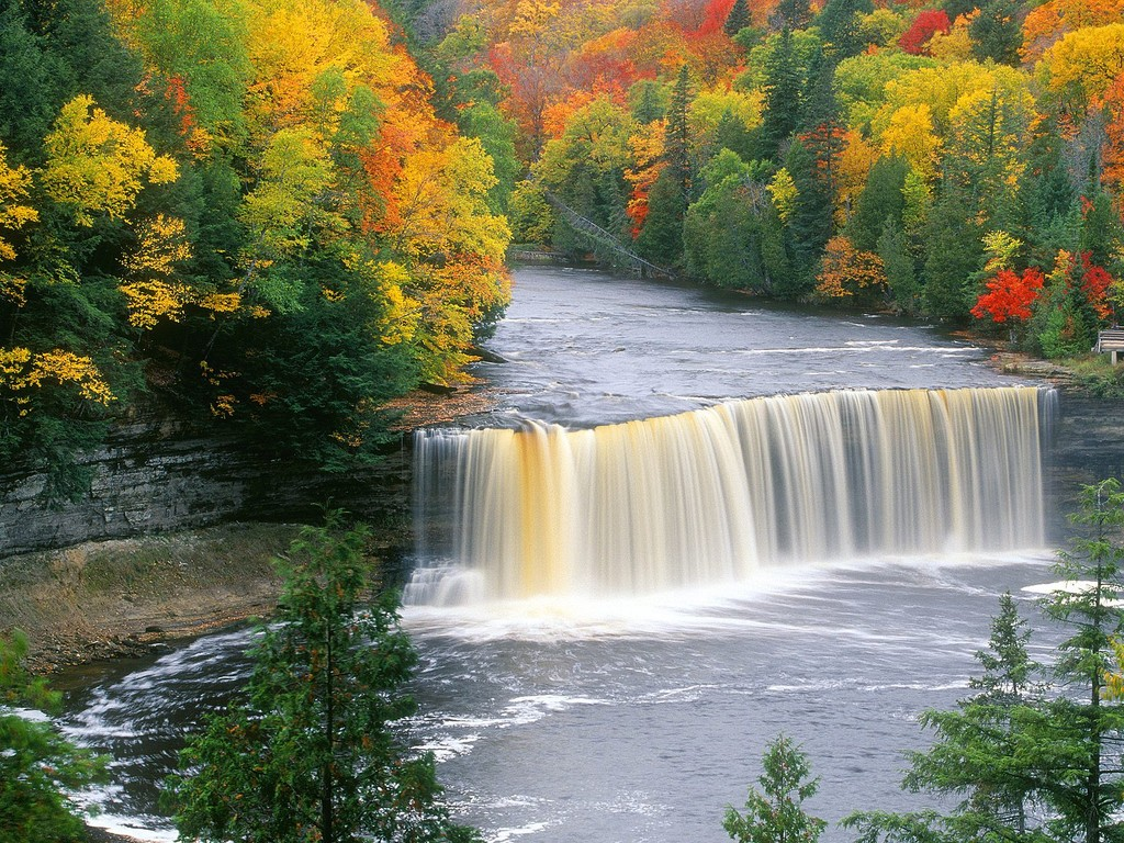 wallpaper proslut Full HD Waterfall Nature Wallpapers Widescreen for 1024x768