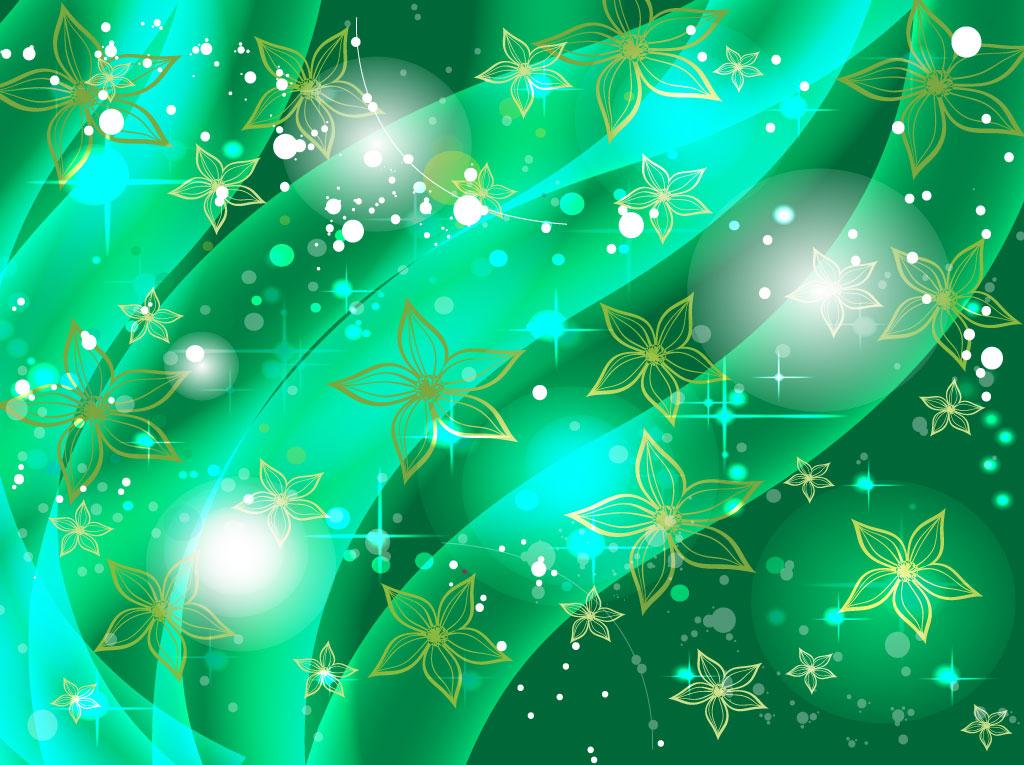 Emerald Floral Background vectors UI Download 1024x765