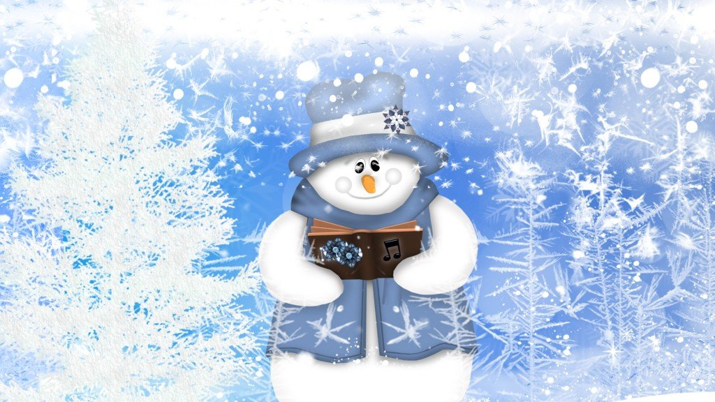 Winter snowman wallpaper wallpaper Winter snowman wallpaper hd 1024x576