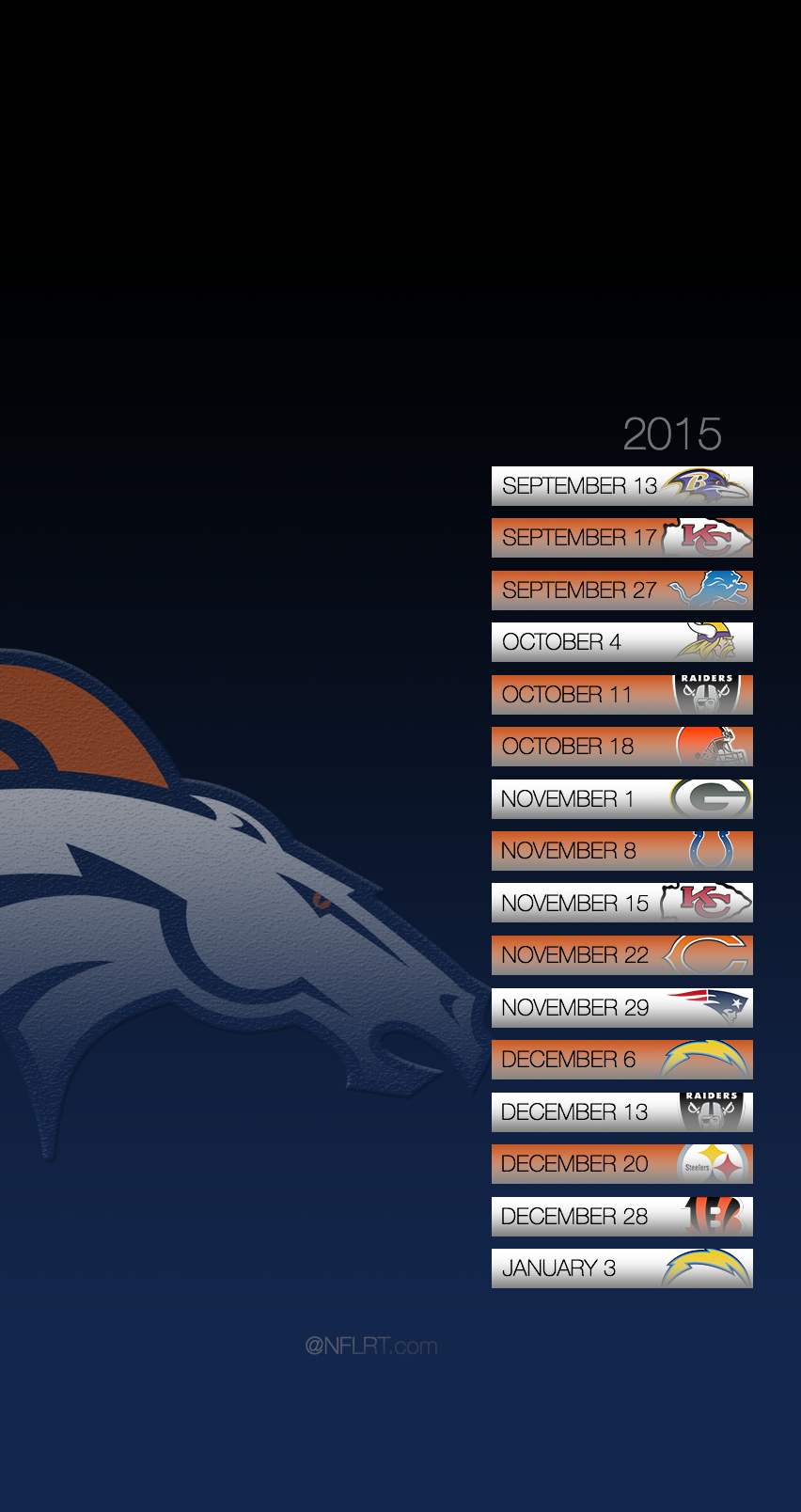 Click for larger Broncos 2015 Schedule Cell Phone Wallpaper 852x1608
