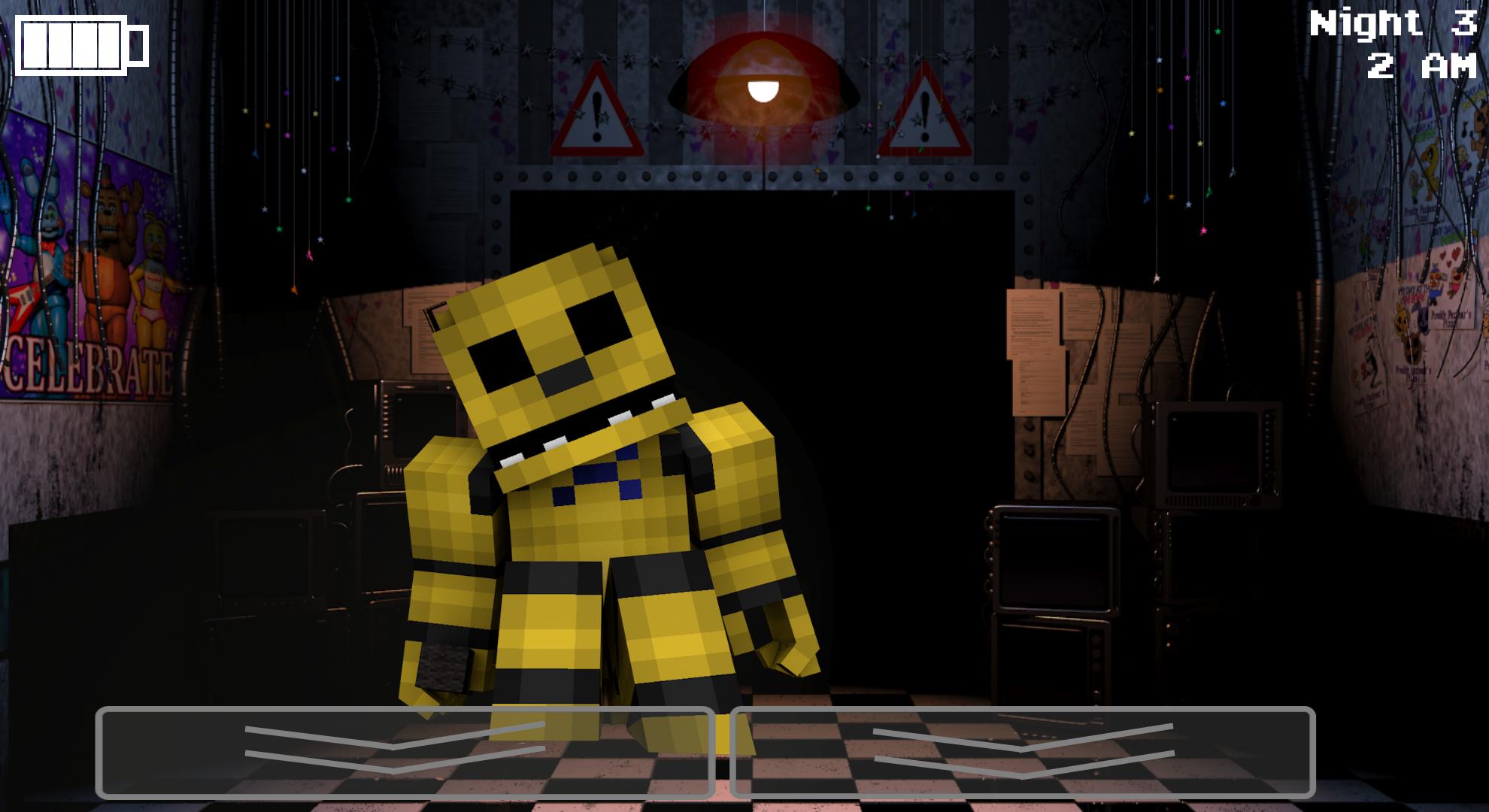 Minecraft Golden Freddy Wallpaper by GalaxyPlays 1980x1080