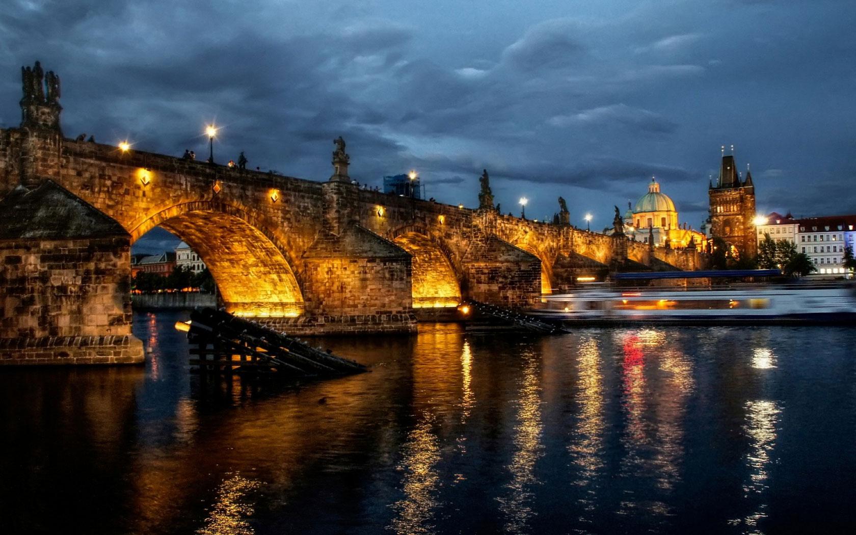 Prague Bridge   HD Background Wallpaper HD Wallpapers Source 1680x1050