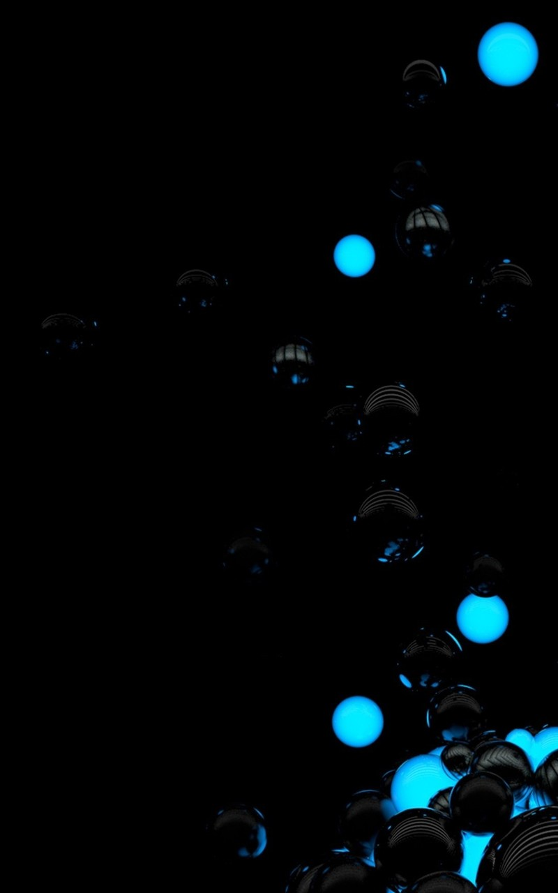 Black and blue spheres Mobile Wallpaper 4390 800x1280
