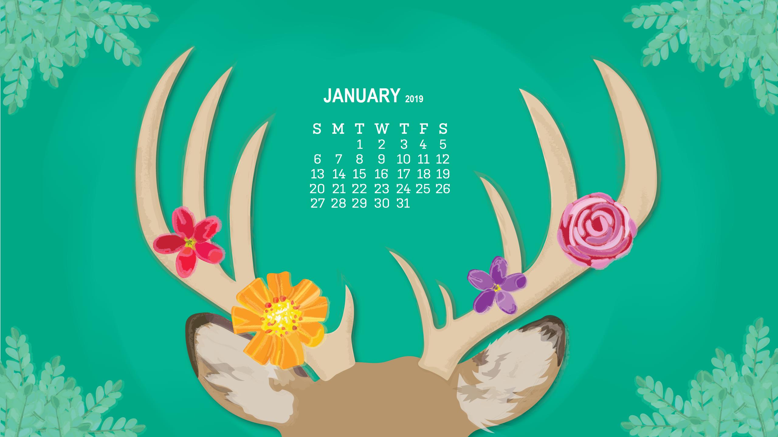 Monthly Desktop Calendar 2019 Wallpapers Calendar 2019 2560x1440