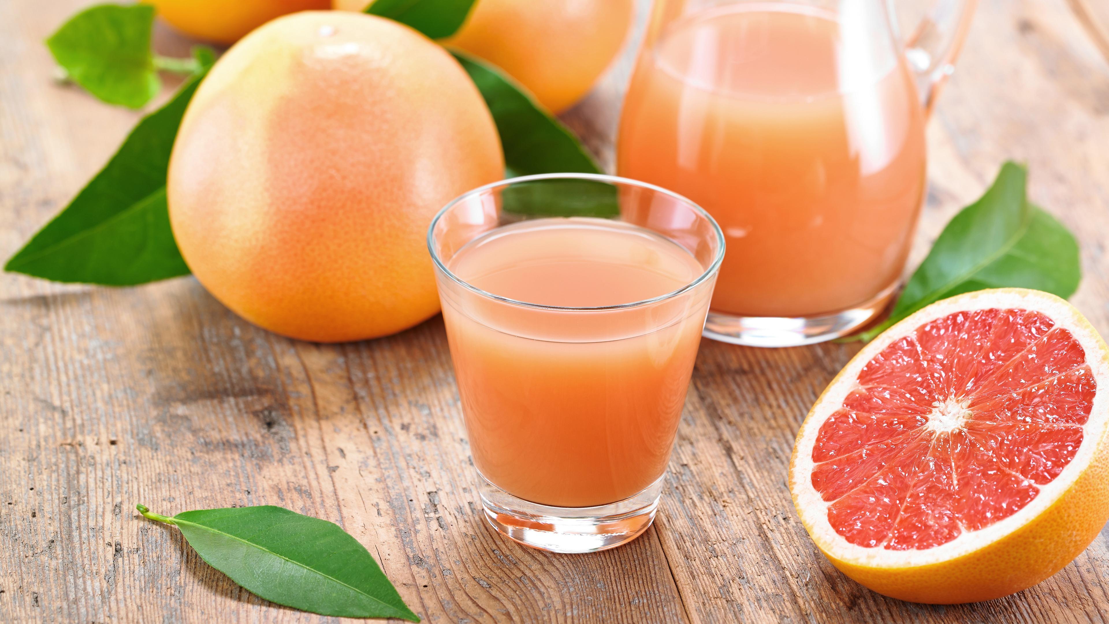 Download wallpaper 3840x2160 grapefruit juice fruit citrus 4k 3840x2160