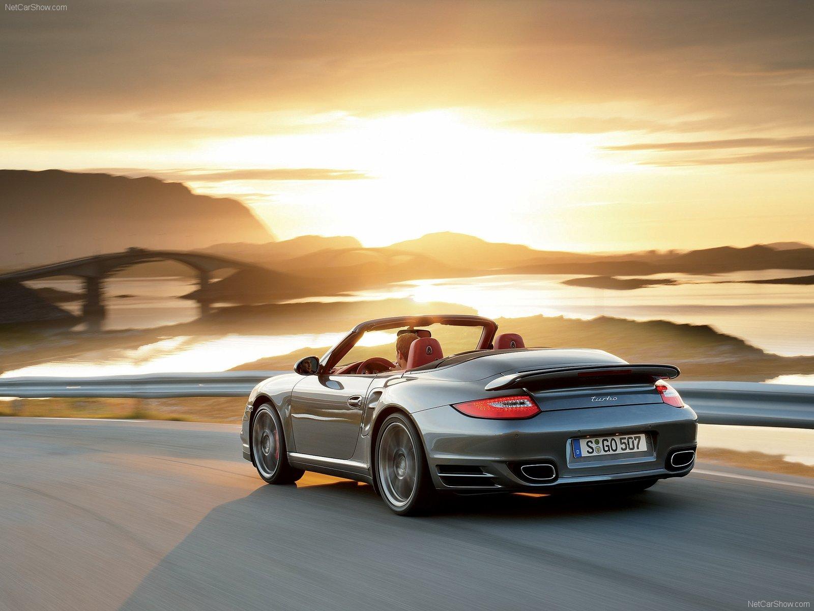 2010 Grey Porsche 911 Turbo Cabriolet wallpapers 1600x1200