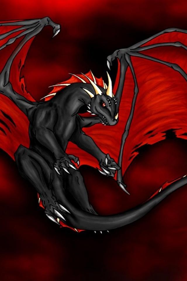 640x960 Red Dragon Iphone 4 wallpaper 640x960