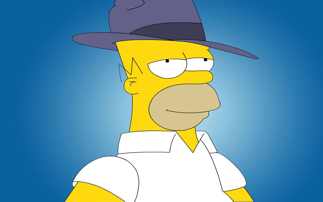 Wallpaper Homer Simpson Wallpaperart 1280x800