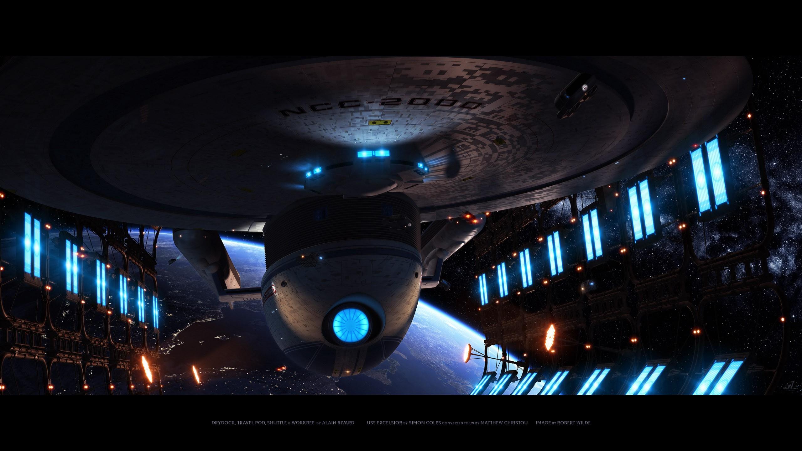 Star Trek Wallpaper 2560x1440 Enterprise Uss Excelsior