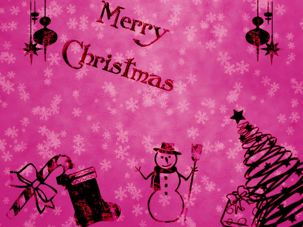 Pink Christmas Background Wallpapers9 1024x768