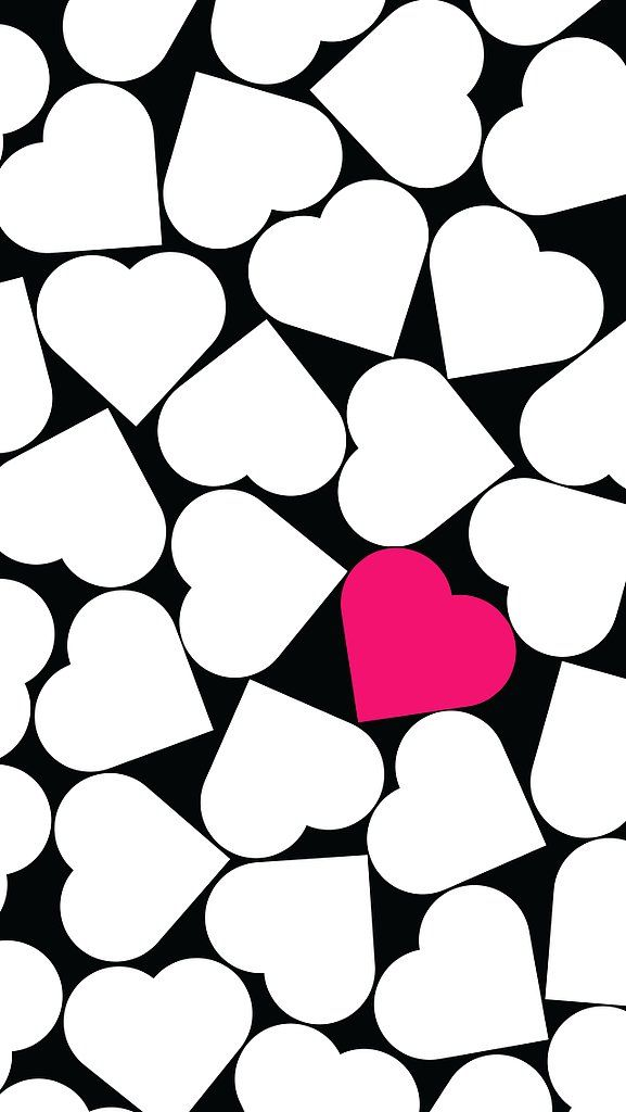45 Black White Hearts Wallpaper On Wallpapersafari