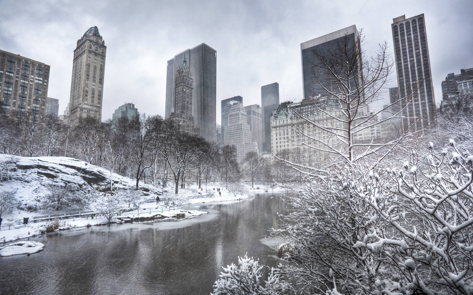 Central Park Manhattan New York City Winter   HD Wallpapers HD 1920x1200
