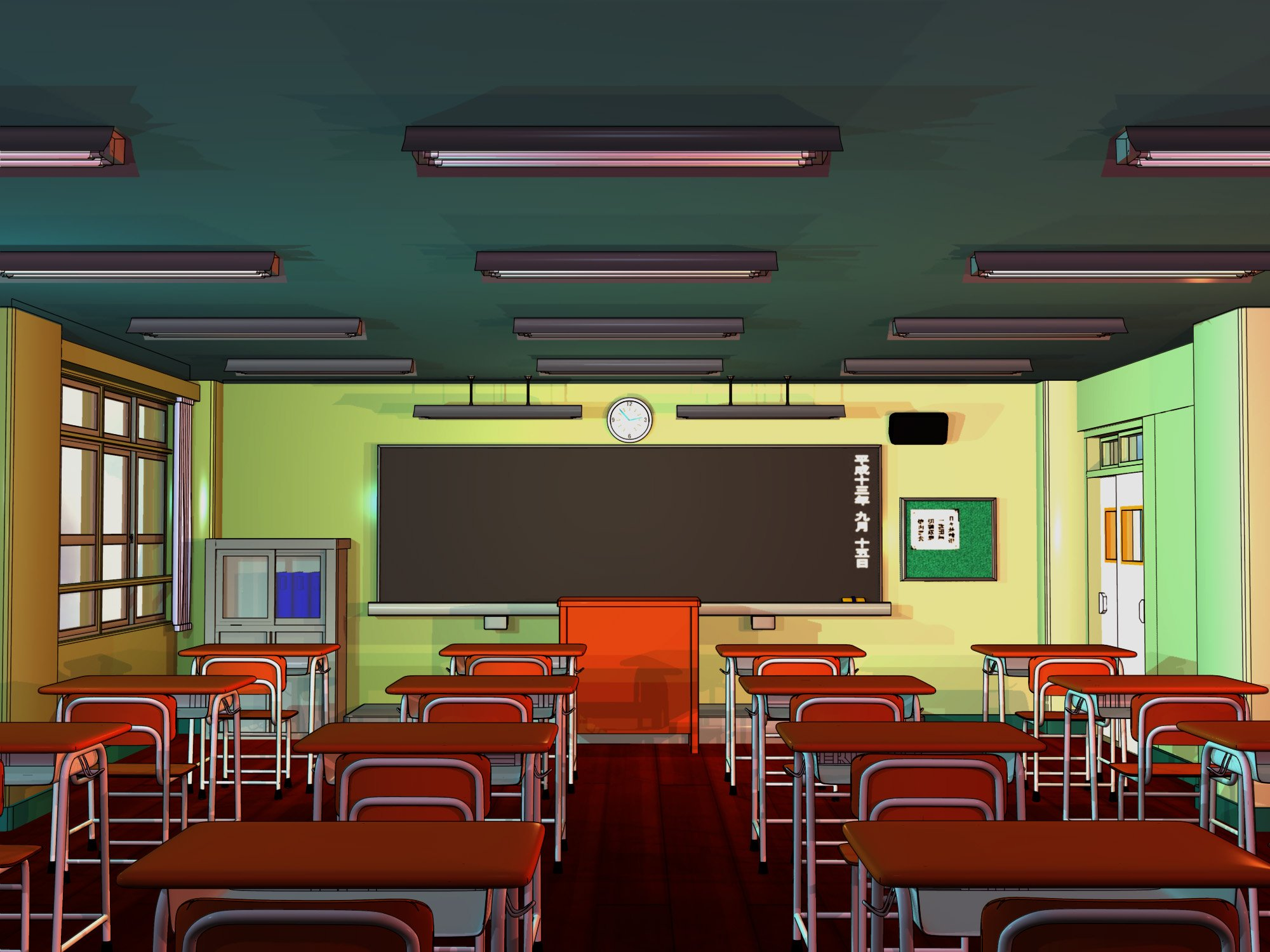 Empty cartoon classroom background - Sb Anime High An Avatar Is You Page 15 Spacebattles