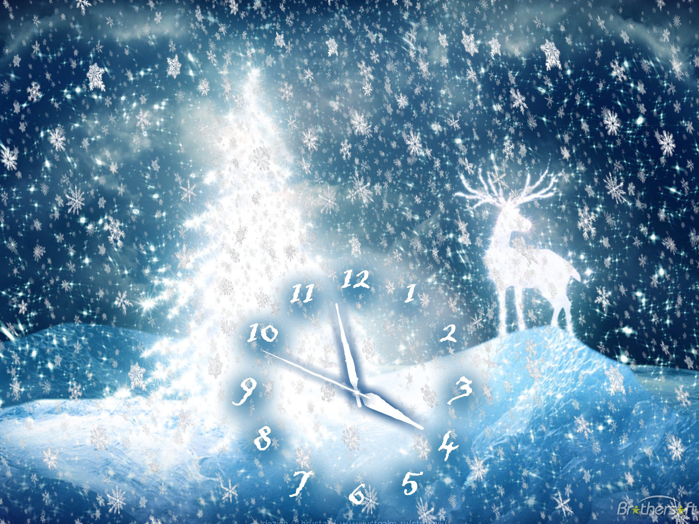 Christmas Deer Clock Screensaver Christmas Deer Clock Screensaver 31 1441x1081