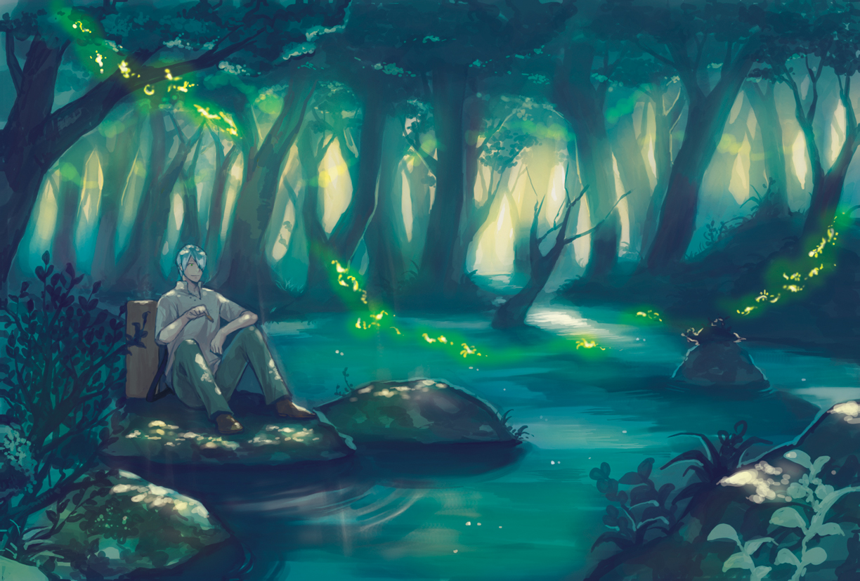 Ginko Mushishi 9 Hd Wallpaper Wallpaper 1224x827