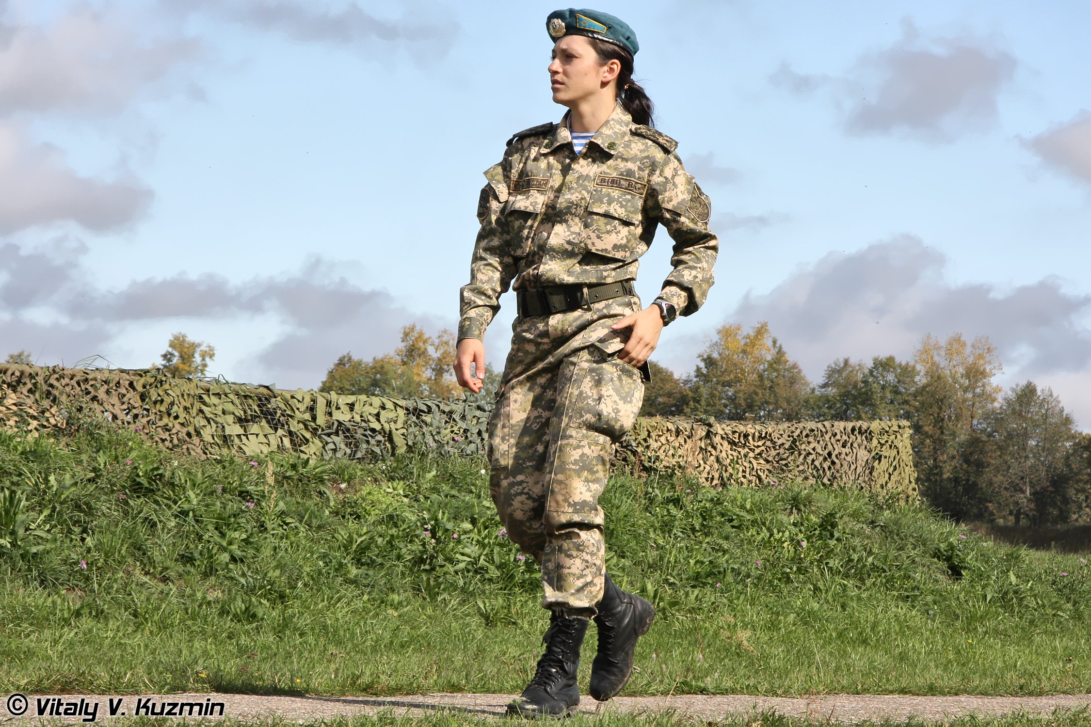 army russian troops woman wallpaper background