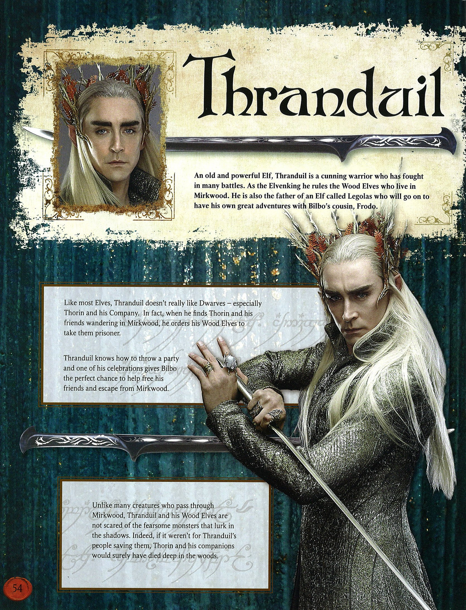 Thranduil Saruman the White Revealed In Hobbit Film Tie In 1563x2048