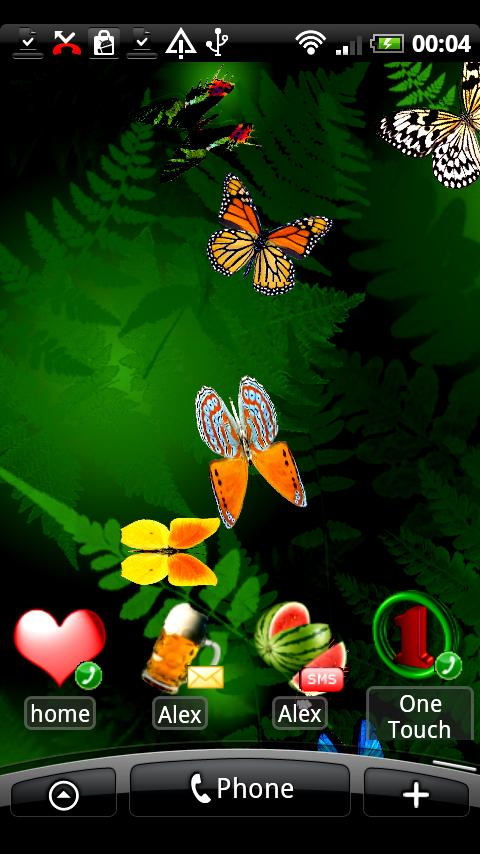 Butterfly Live Wallpaper for Android for Android   download and 480x854