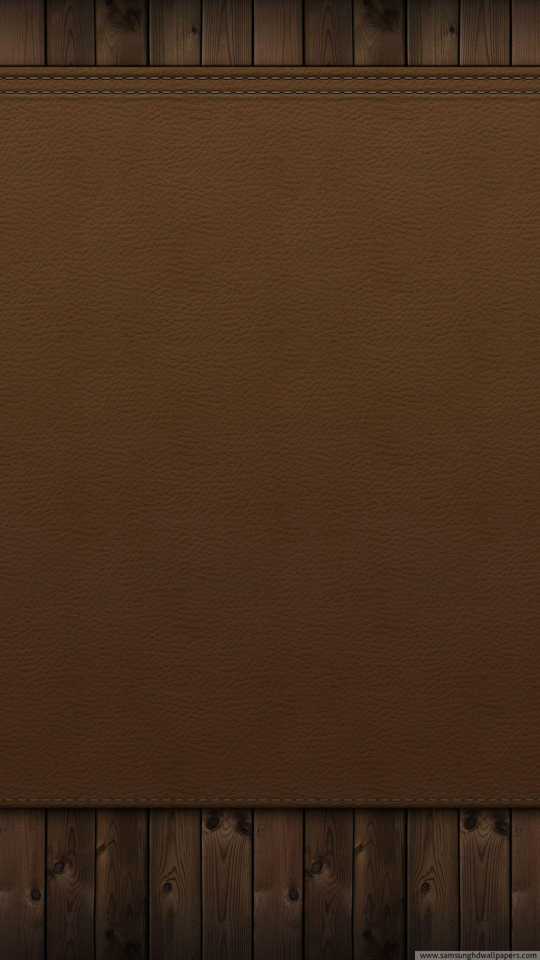 Wood and leather wall HD Samsung S4 wallpaper 1080x1920