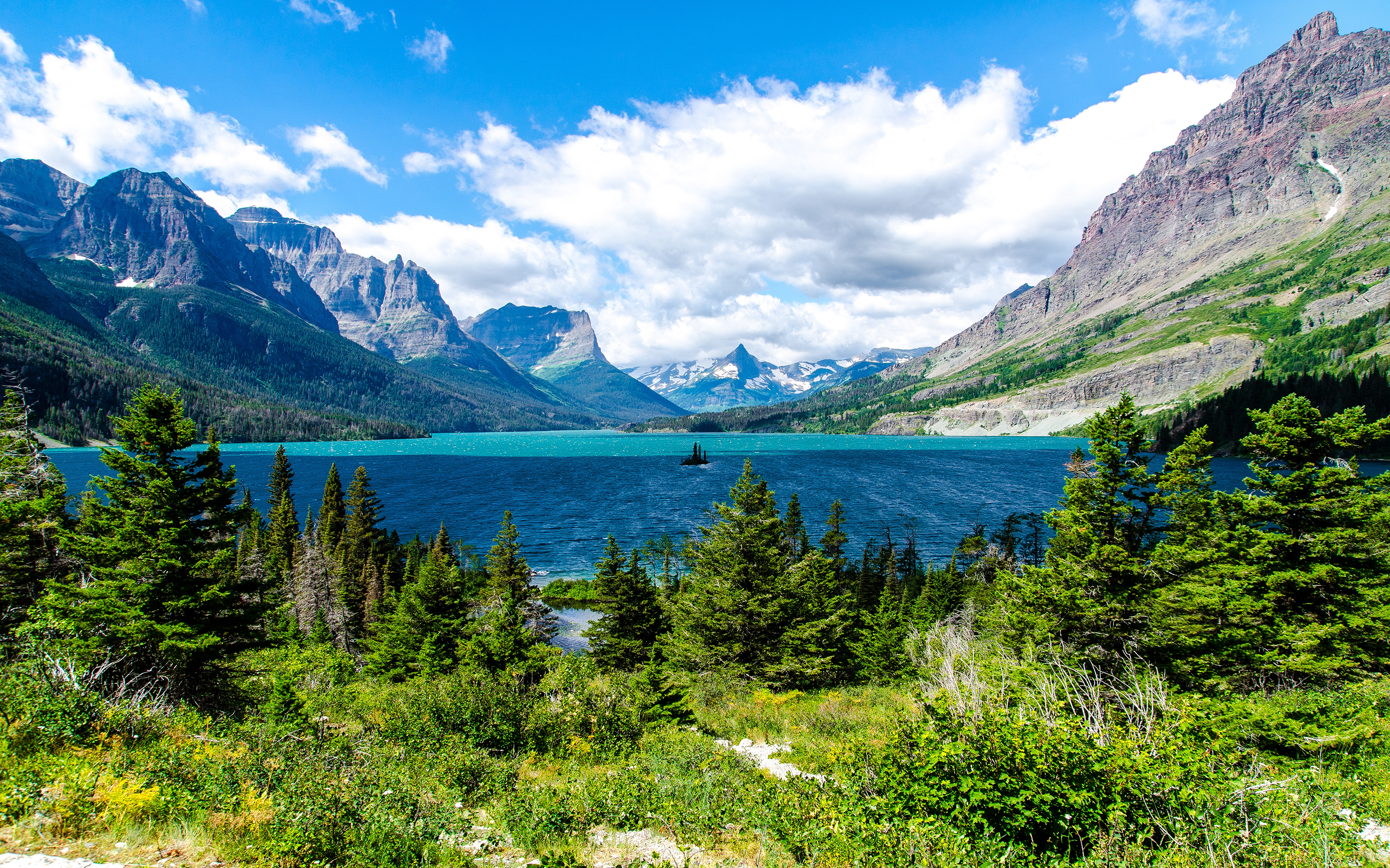 Saint Mary Lake Glacier National Park Wallpapers HD Wallpapers 2880x1800