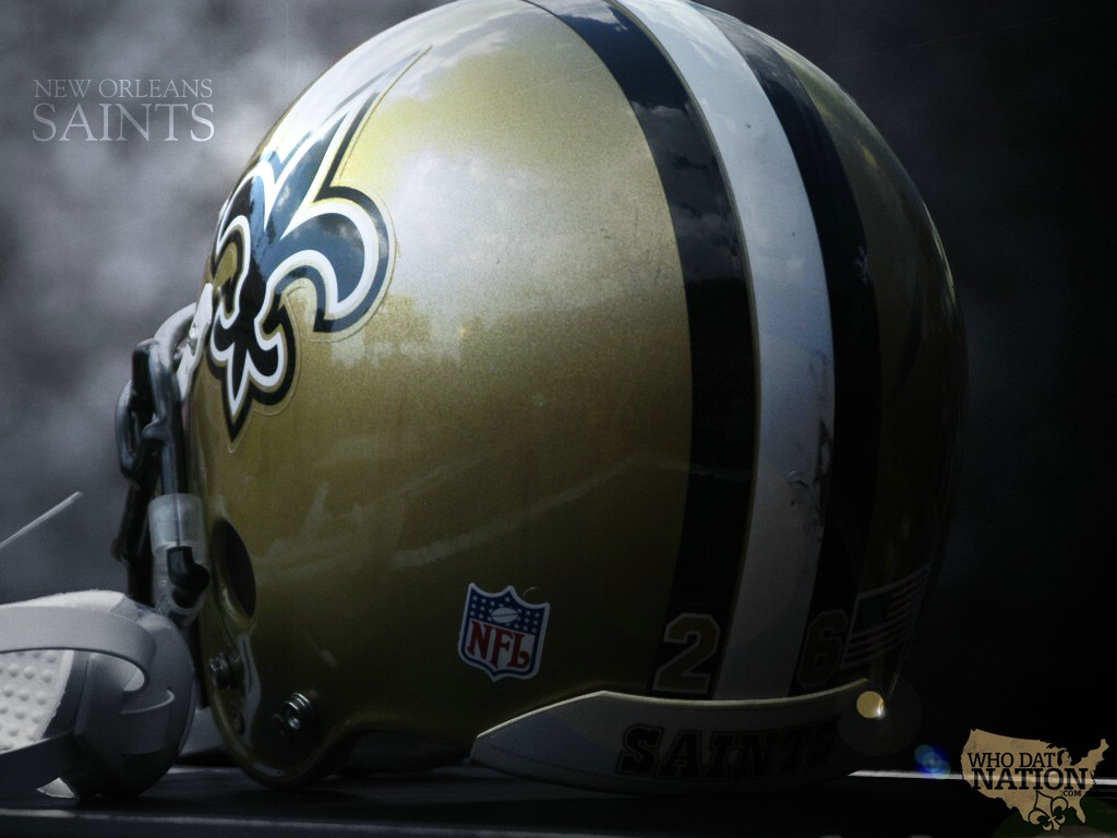wallpaperstampaimagesNew Orleans Saints wallpaper by DarkBeforeDawn 1024x768