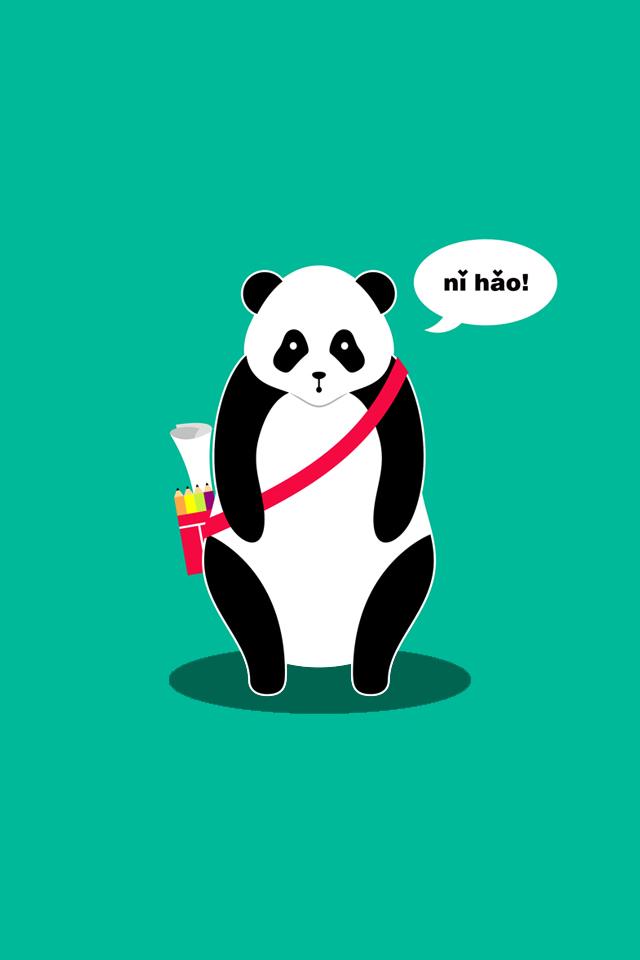 hello panda iphone wallpaper by Lemongraphic 640x960