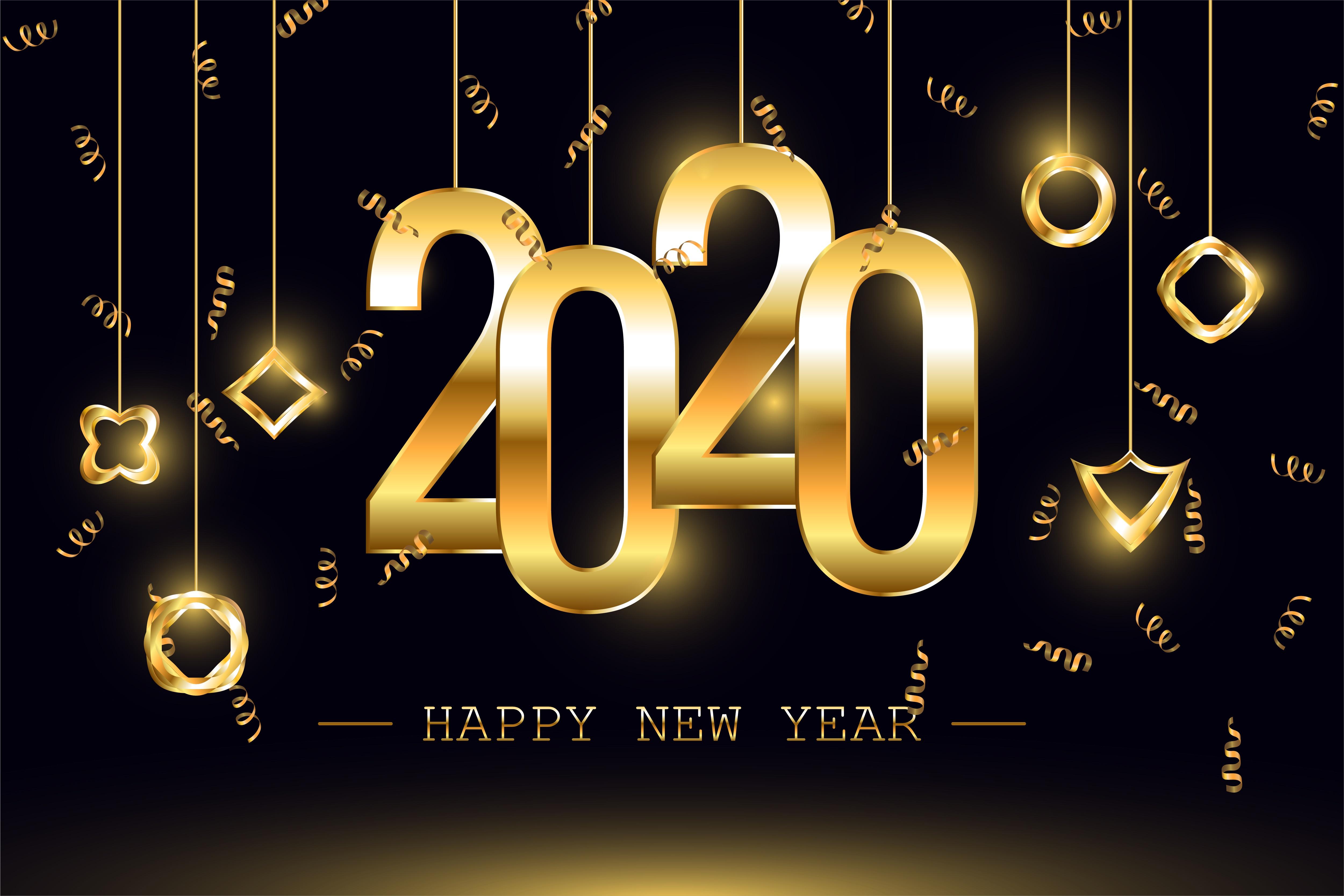 New Year 2020 4k Ultra HD Wallpaper Background Image 5001x3334 5001x3334