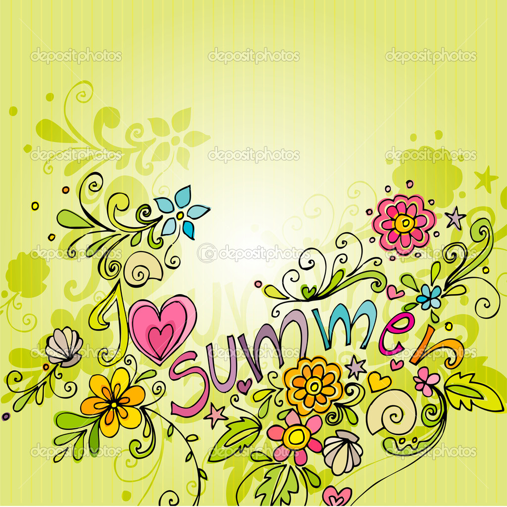 Twitter Summer Backgrounds Cute Doodle Summer Background 1024x1024