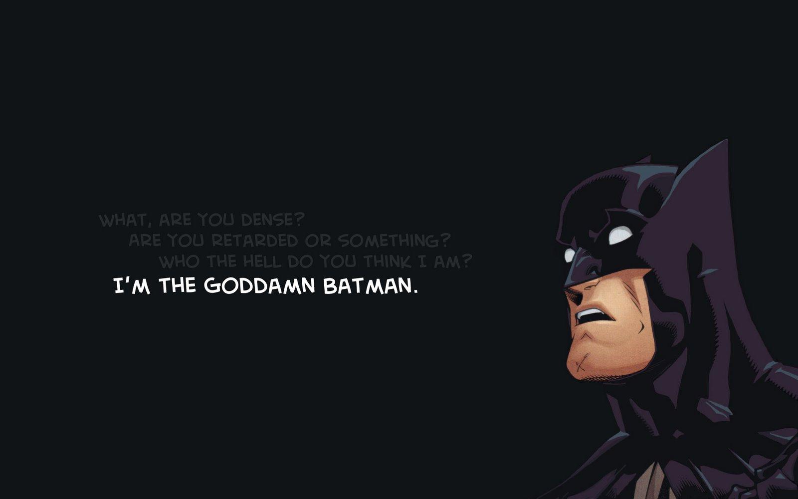 am the good a man batman new xp wallpapers windows7windows8 xp7 pc 1600x1000
