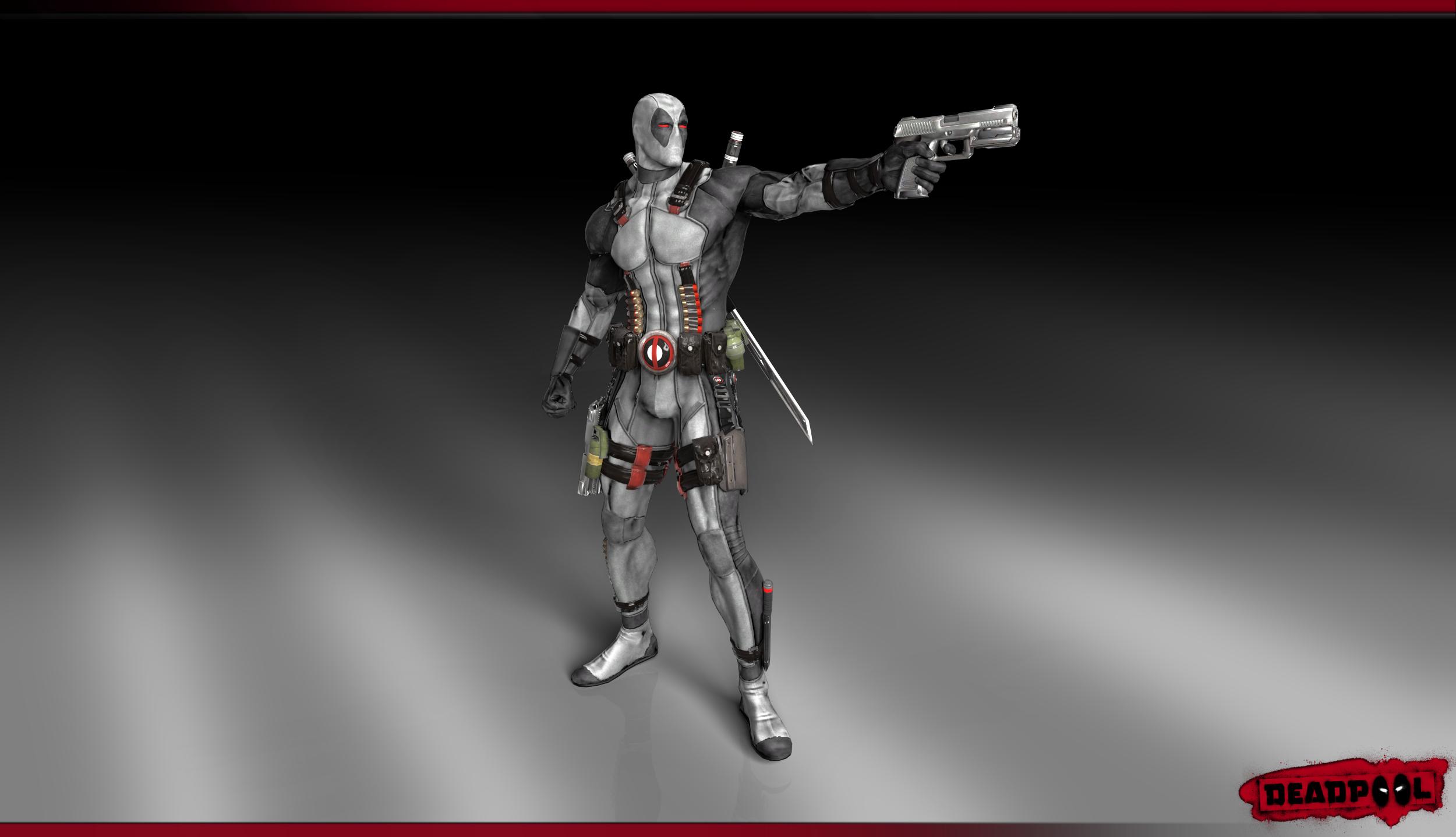 Deadpool render Wallpaper X Force Costume by ArRoW 4 U 2500x1438