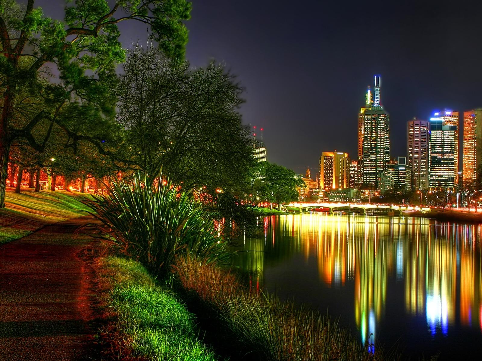The city night lights wallpapers The city night lights stock photos 1600x1200