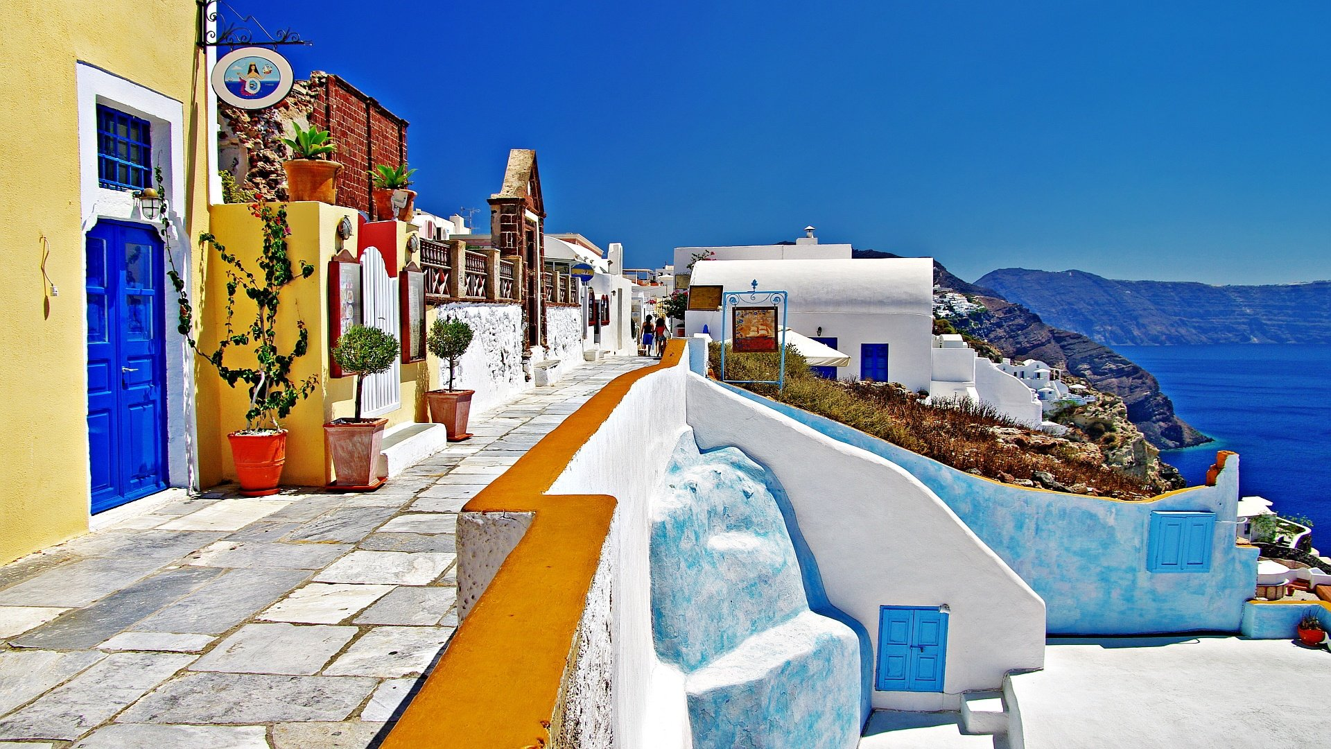 Santorini Greece HD Wallpaper Background Images 1920x1080
