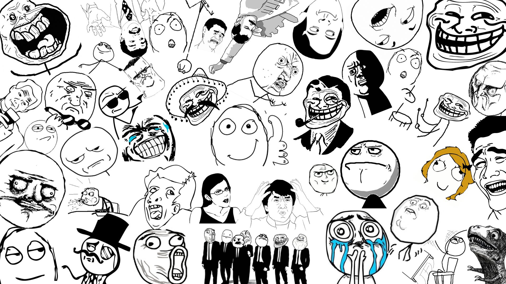 Download Meme Faces Wallpaper HD 2938 Full Size 1920x1080