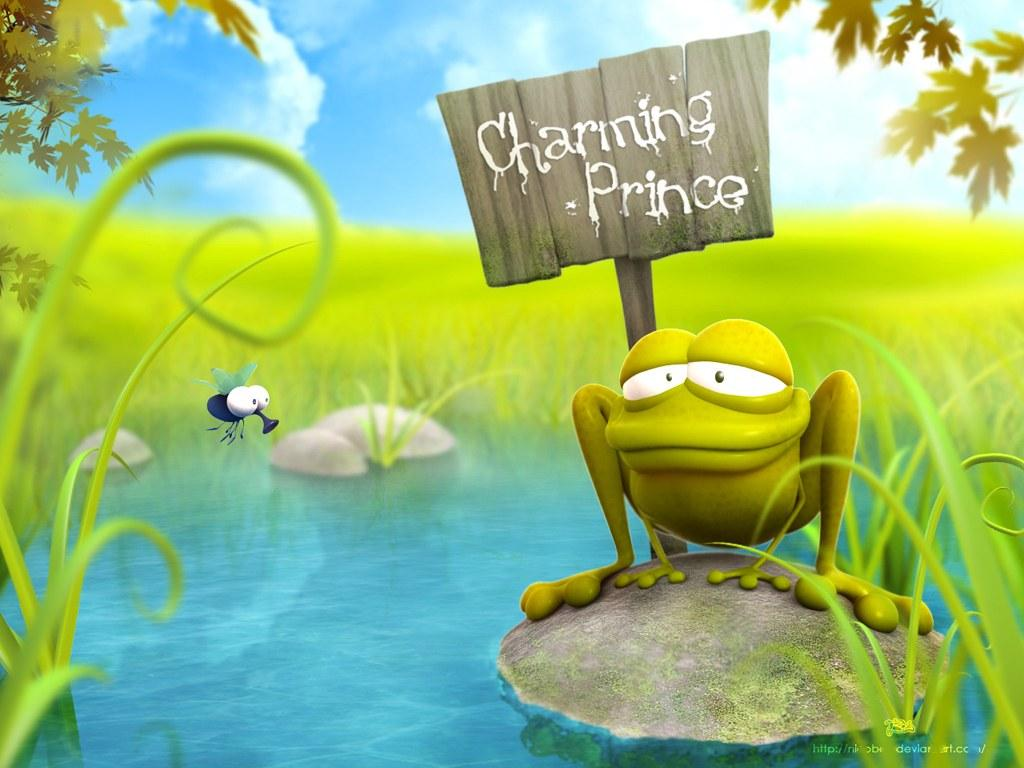 Funny Frog 3D Cartoon Wallpapers   Best Wallpapers 1024x768