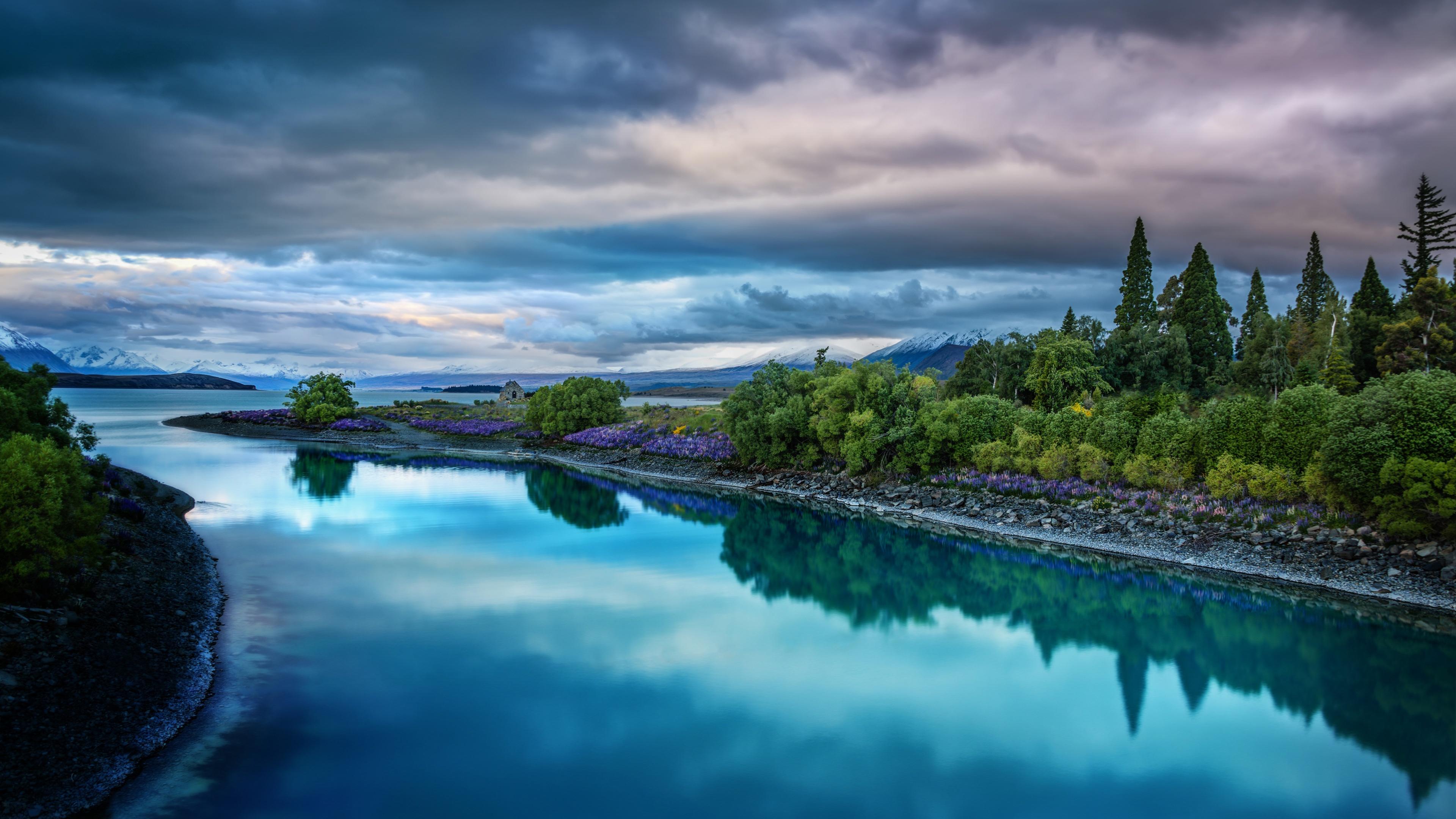 New Zealand Lake Tekapo 3840 x 2160 3840x2160