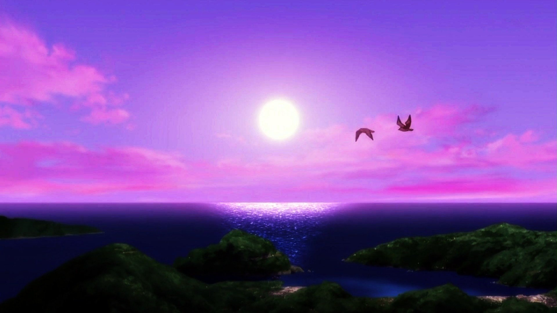 Purple Sunset Ocean Hd Wallpapers Downloand Now