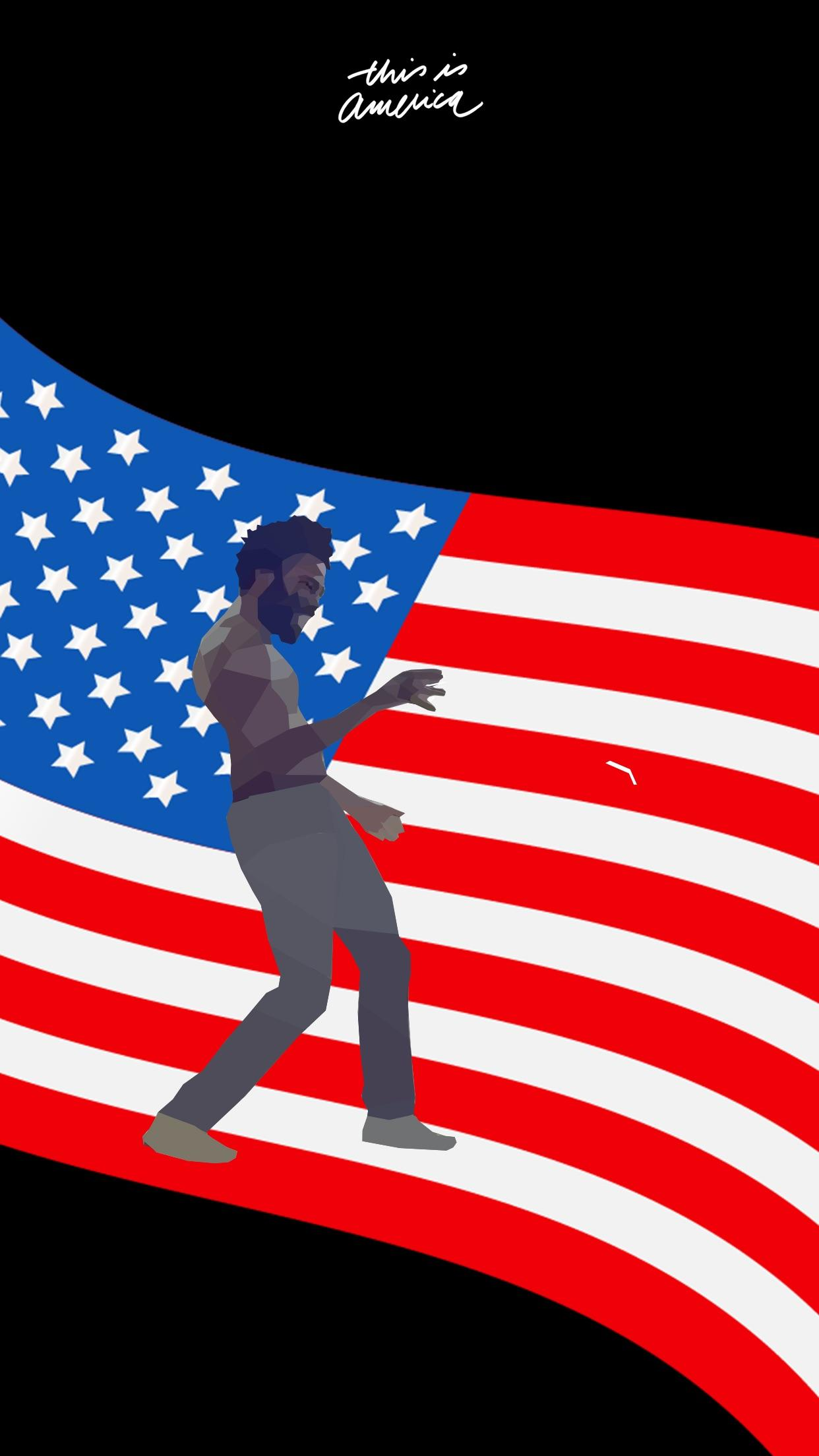 This is America lock screen wallpaper iOS that I made in low 1242x2208