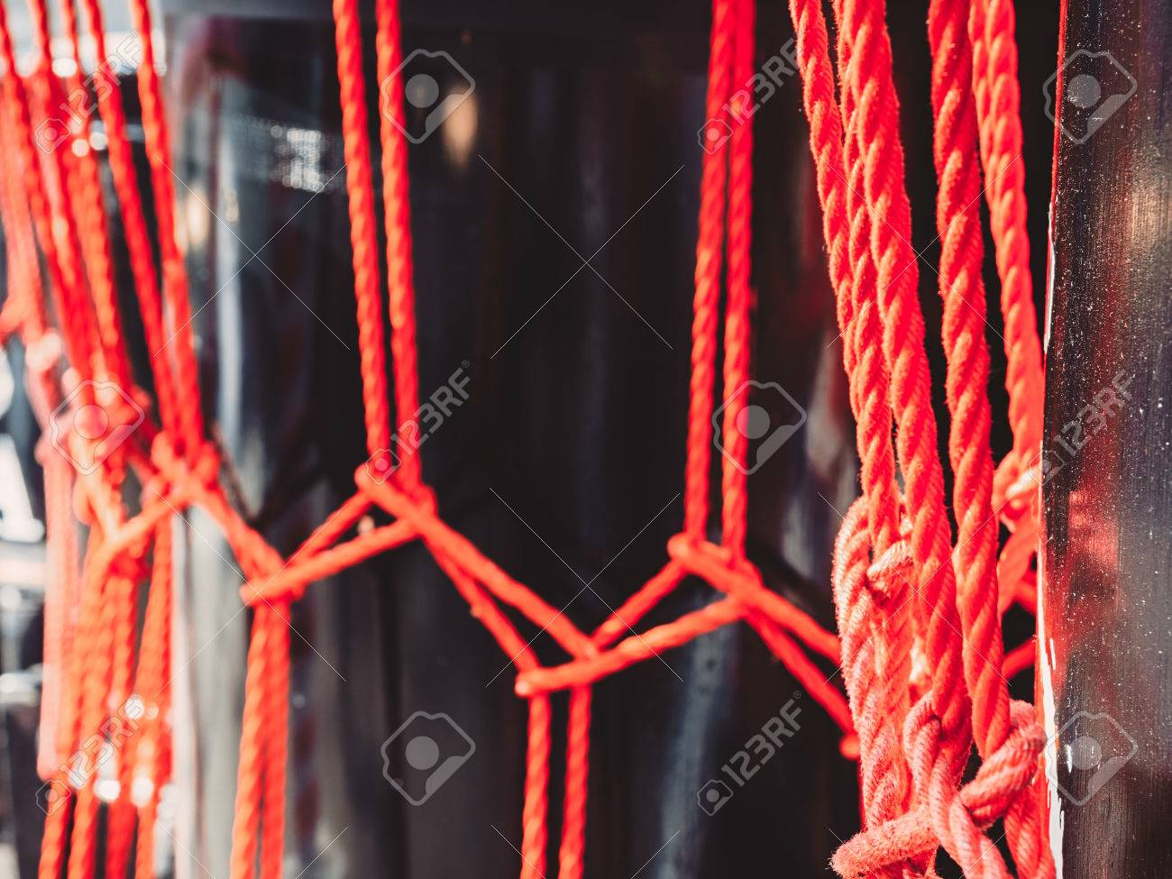 Knots From Red Ropes Of Taiko Drums O kedo Close Up Background 1300x975